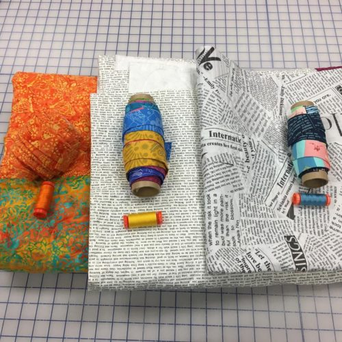 Three quilts ready for binding