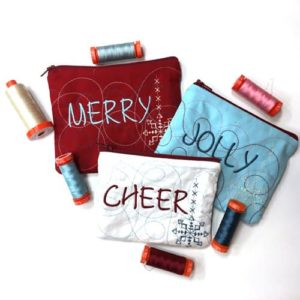 Last-Minute Holiday: Embroidered In-the-Hoop Pouches
